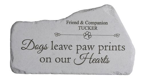 Personalized Dog Memorial Stone - Paw Prints