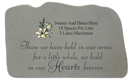 Personalized Garden Stone with Image Choice - Those We Have Held