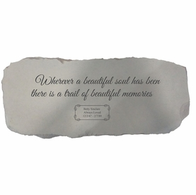 Personalized In Memory Bench - Wherever A Beautiful Soul