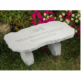 Personalized Memorial Bench - I Thought Of You With Love