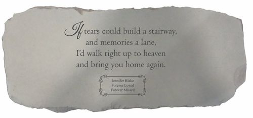 Personalized Memorial Bench - If Tears Could Build