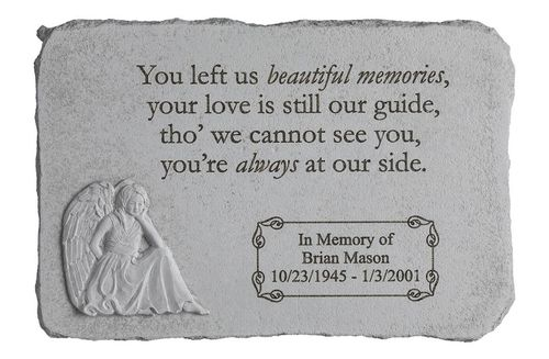 Personalized Memorial Garden Stone - Beautiful Memories