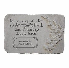 Personalized Memorial Garden Stone - In Memory of a Life