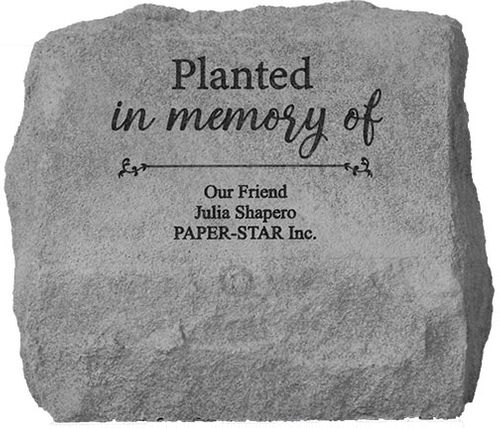 Personalized Memorial Marker Urn - Planted in Memory