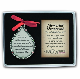 Personalized Memorial Ornament - God Saw Her Getting Tired