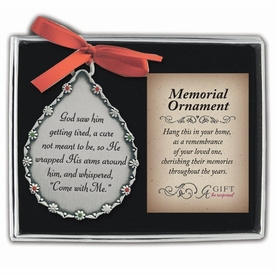 Personalized Memorial Ornament - God Saw Him Getting Tired