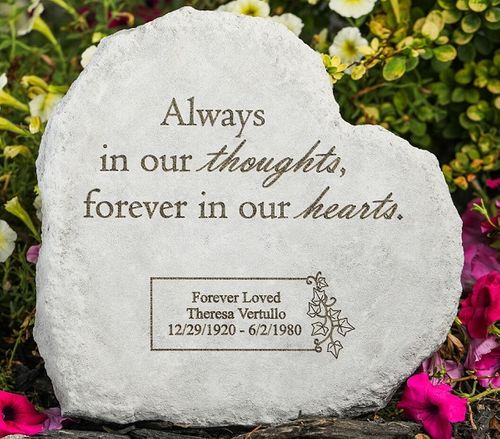 Personalized Memorial Stone - Always In Our Thoughts