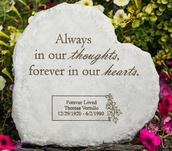 Always In Our Thoughts Forever In Our Hearts Quotes: Personalized Memorial Stone