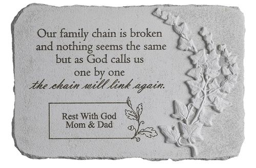 Personalized Memorial Stone - Broken Chain