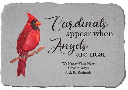 Personalized Memorial Stone - Cardinals Appear