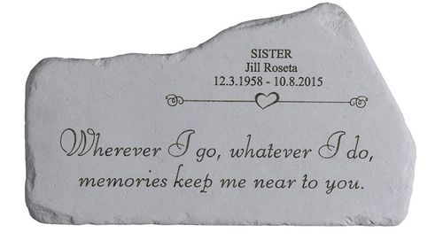 Personalized Memorial Stone - Memories Keep You Near