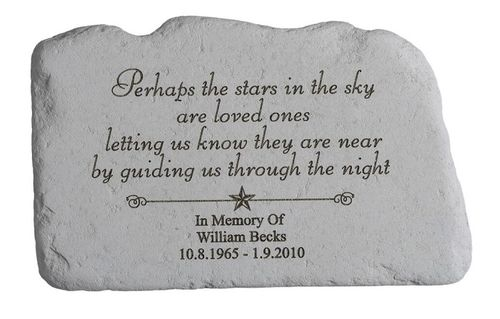 Personalized Memorial Stone - Perhaps the Stars