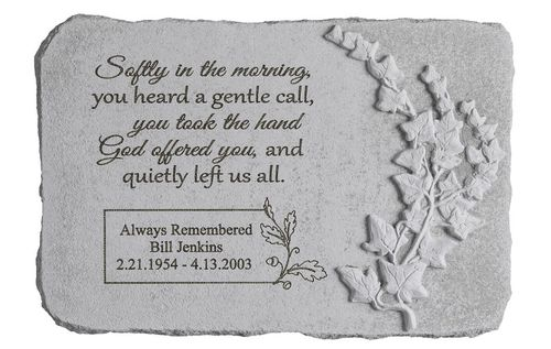 Personalized Memorial Stone - Softly In The Morning