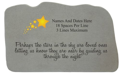 Personalized Memorial Stone - Stars In The Sky