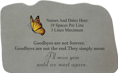 Personalized Memorial Stone with Image Choice - Until We Meet Again