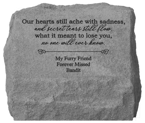 Personalized Memorial Stone with Urn - Our Hearts