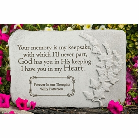 Personalized Memorial Stone - Your Memory Is My Keepsake