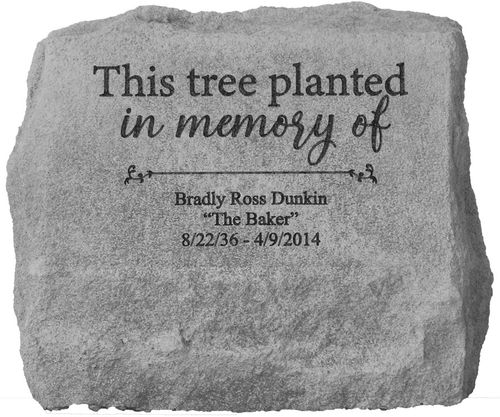 Personalized Memorial Tree Marker Urn