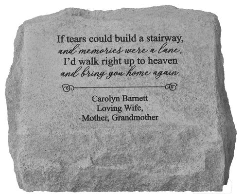 Personalized Memorial Urn - If Tears Could Build