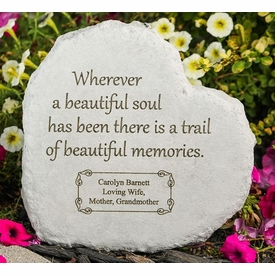 Personalized Memory Stone - Wherever A Beautiful Soul