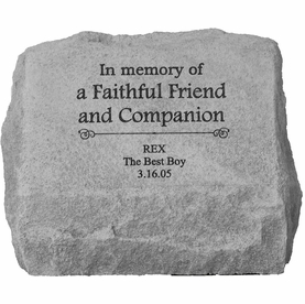Personalized Pet Stone Memorial Marker with Urn