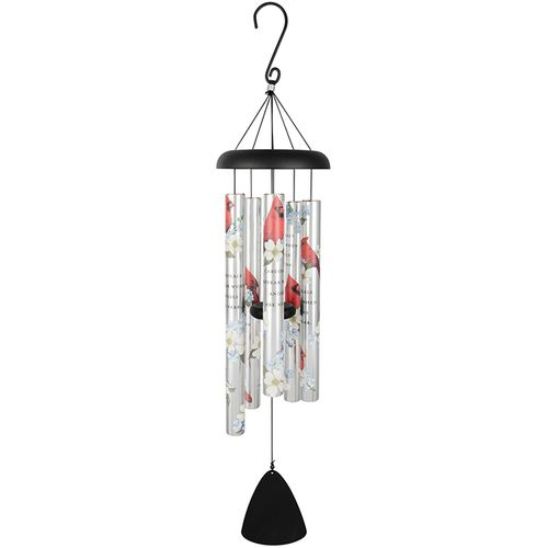 Personalized Sympathy Wind Chimes - Cardinals Appear