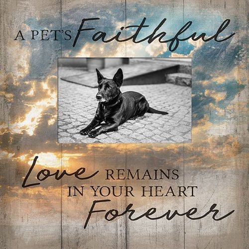 Pet Memorial Frame - Faithful Love
