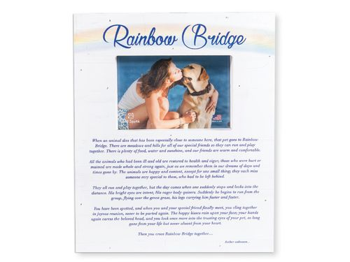 Pet Memorial Frame - Rainbow Bridge