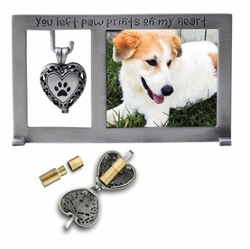 Pet Memorial Picture Frame With Urn