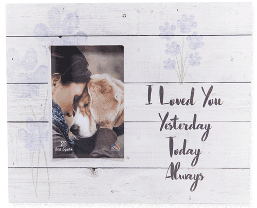 Pet Sympathy Picture Frame - I Loved You - Engravable