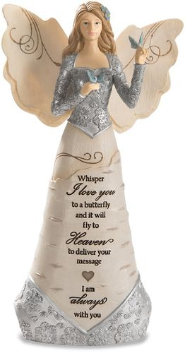 Remembrance Angel With Butterfly - Whisper I Love You