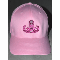 Flex Fit Hat w/ Pink Badge