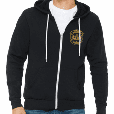 Soft Style Lightweight Full-Zip Hooded Sweatshirt