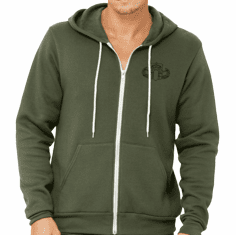 HDT Soft Style Lightweight Full-Zip Hooded Sweatshirt