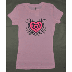 """Heart of fire"" Ladies Fitted"