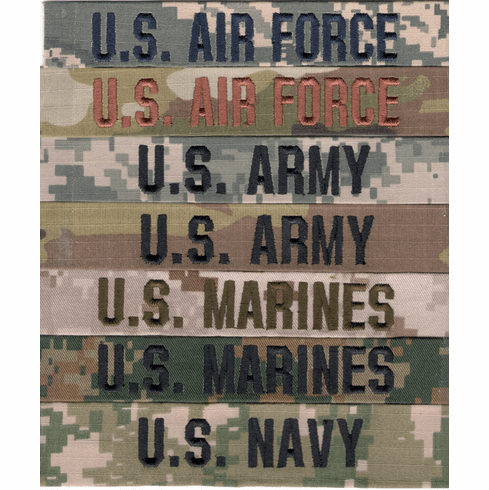 Military Branch Name Tapes