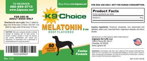 K9 Choice 6 mg Melatonin for Dogs: Beef Flavor 90 Tablets