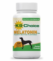 K9 Choice Chewable 3 mg Melatonin for Dogs: Peanut Butter Flavor 120 Tabs
