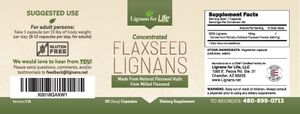 Organic Flaxseed Lignans 15mg 2 Pack