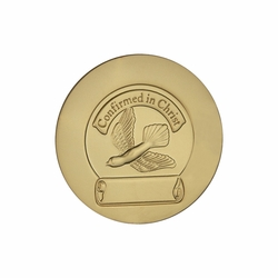 1-1/2 Inch Gold Plated Die Struck Holy Confirmation Coin