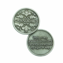 1-1/4 x 1-1/4 Inch Round Grandchild Inspirational Pocket Token