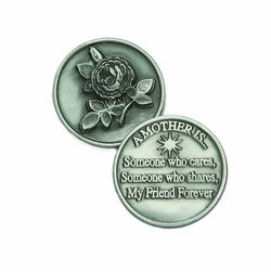 1-1/4 x 1-1/4 Inch Round Pewter Mother Inspirational Pocket Token
