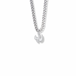 1/2 Inch Sterling Silver Dove Necklace