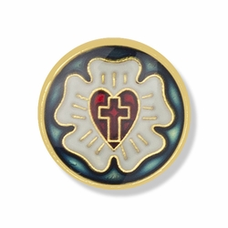 1/2 x 1/2 Inch Round Lutheran Shield Lapel Pin