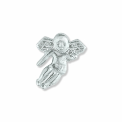 1/2 x 3/8 Inch Silver Angel on Shoulder Lapel Pin