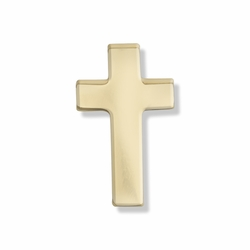 1/2 x 5/16 Inch Gold Cross Lapel Pin