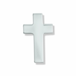 1/2 x 5/16 Inch Silver Cross Lapel Pin