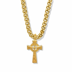 1-3/16 Inch 14K Gold Filled Celtic Knot Cross Necklace