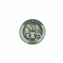 1-3/16 x 1-3/16 Inch Round Pewter Army Prayer Pocket Token