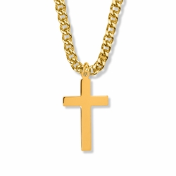 1-3/8 Inch 14K Gold Filled Plain Cross Necklace